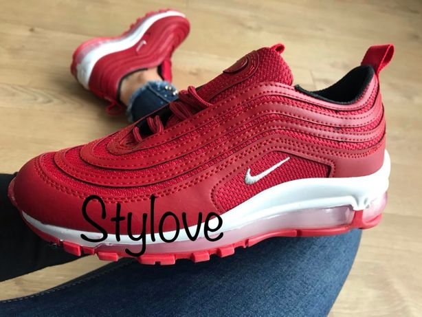 Nike Air Max 97 Rozmiar 39. Czerwone - Białe. WYPRZEDAŻ!!!