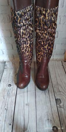 Сапожки с леопардовым принтом