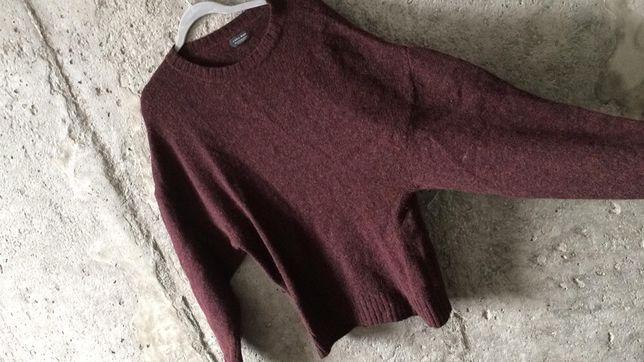 Sweter bordowy męski nietoperz Zara Man M