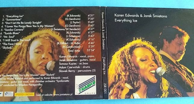 JAZZ - Karen Edwards & Jarek Śmietana ‎– Everything Ice , 2002 CD