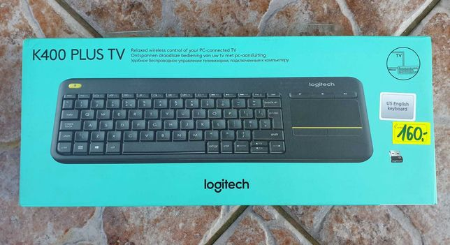 Klawiatura Logitech K400 Plus TV Wireless Panel dotykowy, NOWA