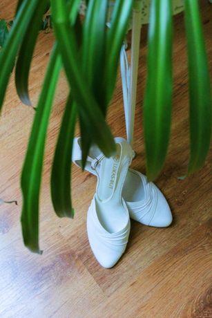 Buty ślubne białe r. 36