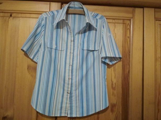 Bluzka koszulowa w paseczki krótki rękaw S