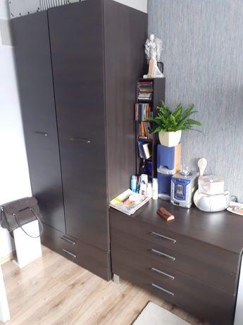 Zestaw mebli BRW RESET wenge szafa komoda półki szuflady venge