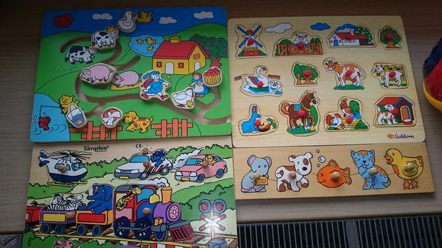 Układanka edukacyjne puzzle drewniane