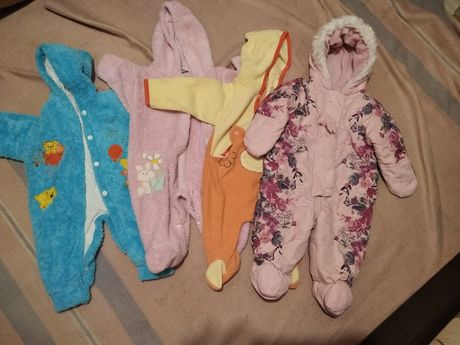 Теплая одежда для малышей ,пара 100 грн.