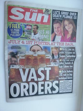 Газета на английском The Sun