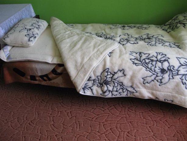 Pościel Merynos: kołdra, poduszka i materac (nieużywane)