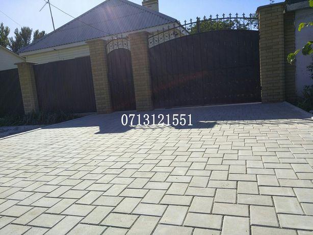 Укладка тротуарной плитки ФЭМ. Плитка, шлак, доставка