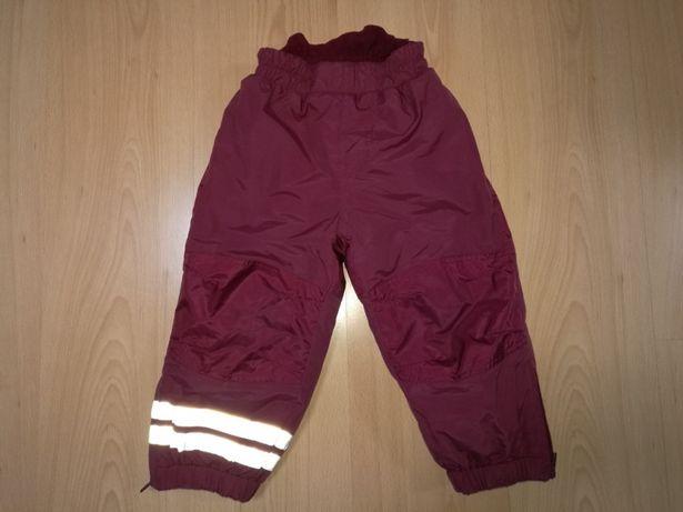 Spodnie narciarskie å roz.86/92 zimowe nieprzemakalne, ocieplane