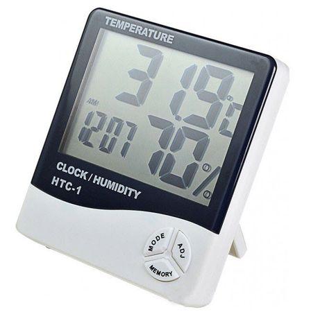 Термометр гигрометр цифровой измерение температуры и влажности HTC-1