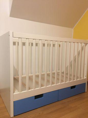 Łóżeczko dziecięce drewniane z szufladami 120x60 IKEA