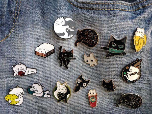 Набор значков значок кот значок котик значок кіт  1 шт 35-55грн