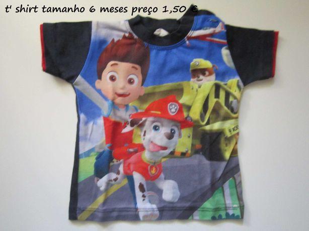 Sweets e t' shirts de primavera/verao para criança 3 meses a 6 anos