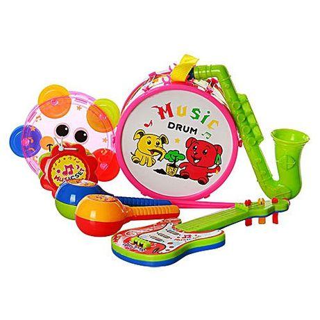 Музыкальные инструменты,бубен, маракасы,гитара,ксилофон,барабан,дудка