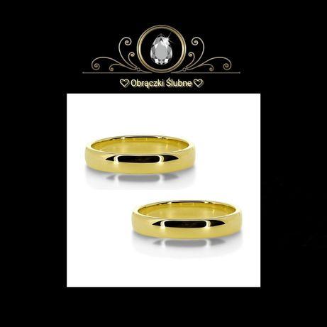 Symbol Miłości Śliczna Para Złotych Obrączek Ślubnych