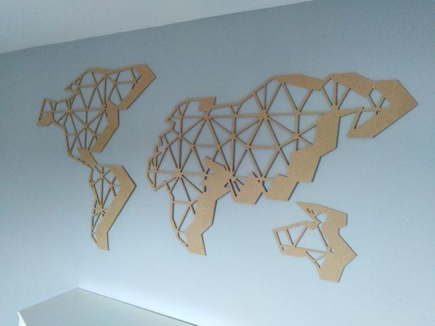 Mapa świata geometryczna