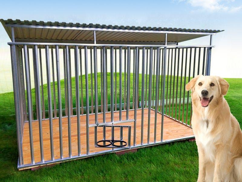 Kojec dla psa MAJA ocynkowany klatka box zadaszony kojce producent Grodzisk Mazowiecki - image 1