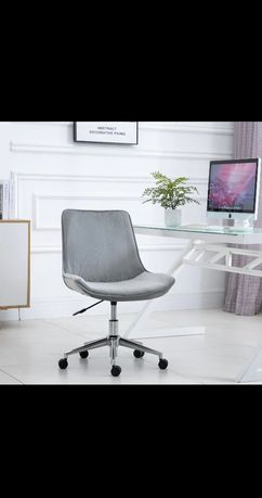 Krzesło biurowe, aksamit