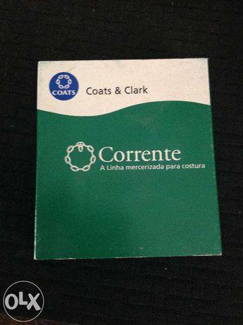 """10 tubos Linhas """"Corrente"""" (Coats & Clark ) - Verde Tropa"""