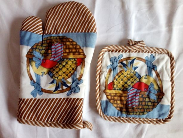 Rękawica kuchenna podkładka pod garnek bawełna komplet