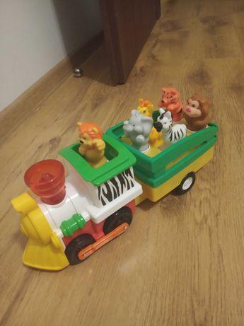 Grający pociąg ze zwierzętami safari kiddieland