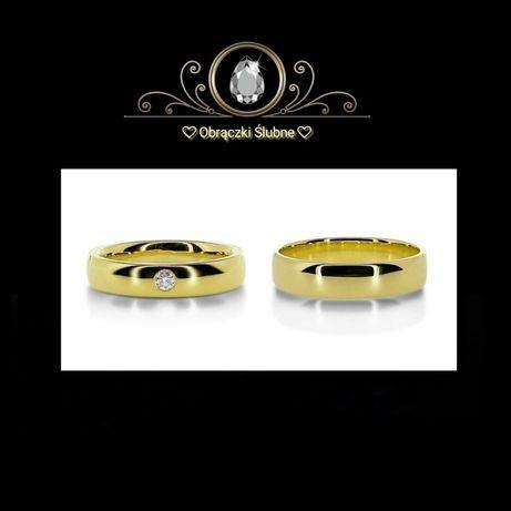 Tradycja Jakość Piękno - Para Zdobionych Złotych Obrączek Ślubnych