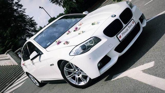 Białe BMW, auto, samochód, limuzyna do ślubu, wesela, tanio, okazja