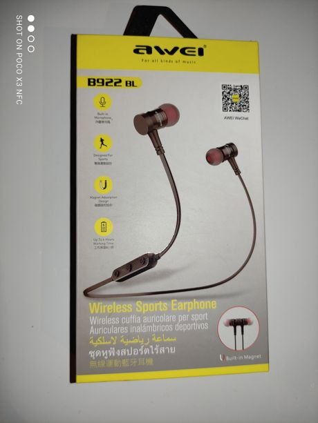 Беспроводные Bluetooth наушники Awei  8922 BL