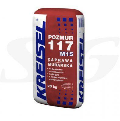 Zaprawa murarska KREISEL POZMUR 117 [M15] 25 kg