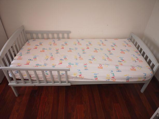 Łóżko toddler bed Woodies Safe Dreams - drewniane 140x70cm