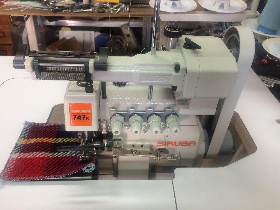 Owerlok 4 nitkowy z mechanicznym doszywaniem gumy SIRUBA 747 L
