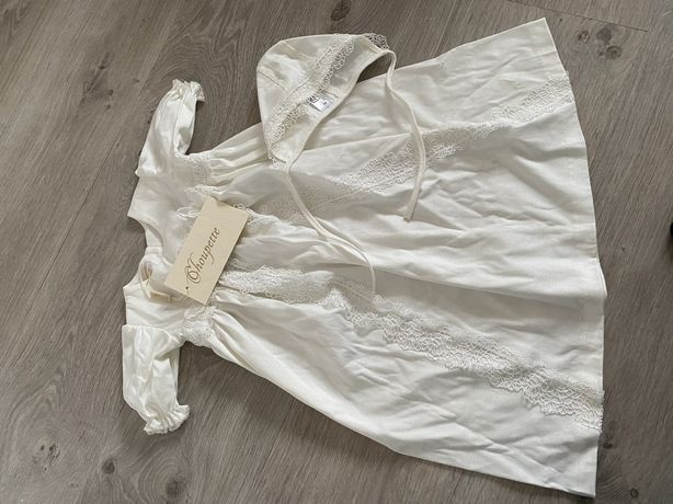 Набор для крещения, крестильное платье