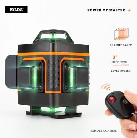 Poziomica laserowa laser krzyżowy 4d 360 stopni niwelator 16 linii