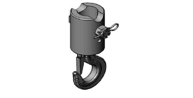 Hak pod rotator / trzpień rotatora Ø59 mm / CERTYFIKAT!!! / DOSTĘPNY