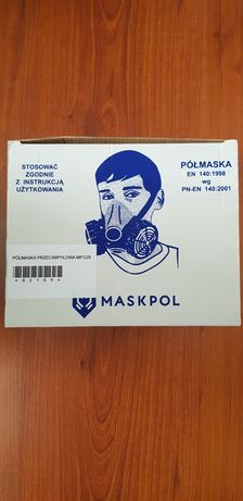 Maska,półmaska mp12/5 maskpol silikonowa