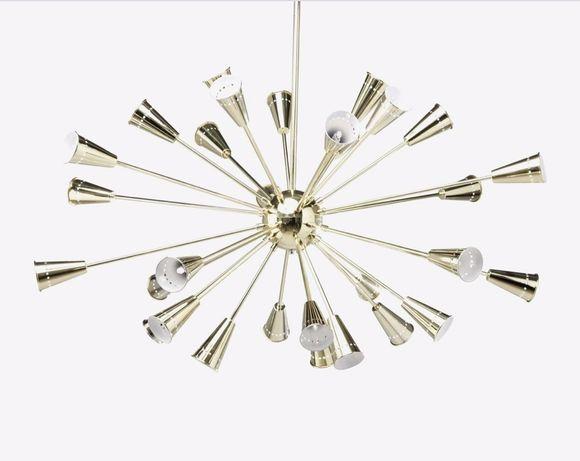 KLER - Lampa  wisząca 125/134 cm zlota Cara Desing KLER