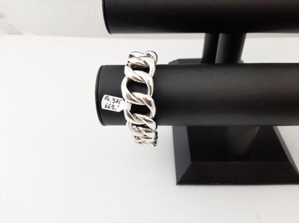 Piękna Srebrna bransoleta pr.925 66,89g 21cm