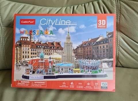 Puzzle 3D Warszawa Cityline nowe