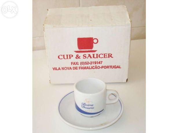 Serviço café expresso Cup & Sauce de 6 chávenas e pires - NOVO