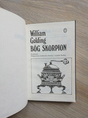 Książka William Golding bóg skorpion w skórzanej twardej oprawie