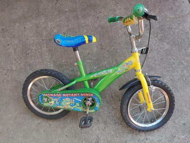 Велосипед велик  детский черепашки ниндзя 14 дюймов