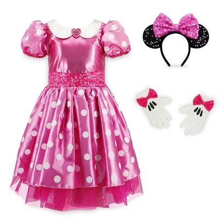 Платье Мини Маус Disney с ушками и перчатками, р.5-6 лет