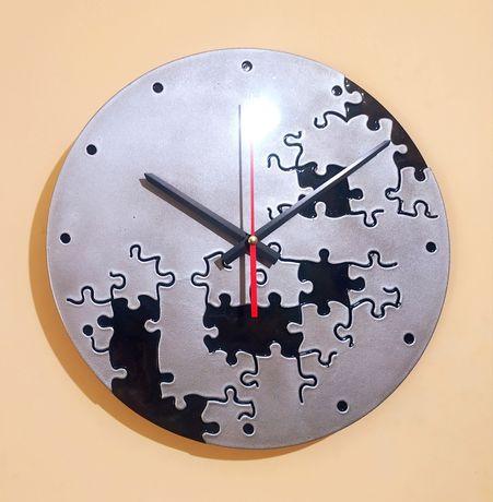 Бесшумные часы Пазл 30 см . из гипса или бетона