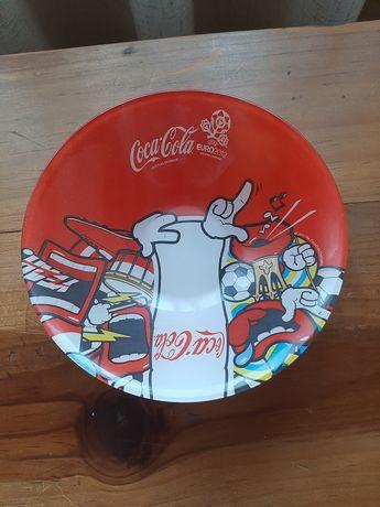 Prato vidro coca-cola euro 2012 e 1 camiao coca-cola tudo novo