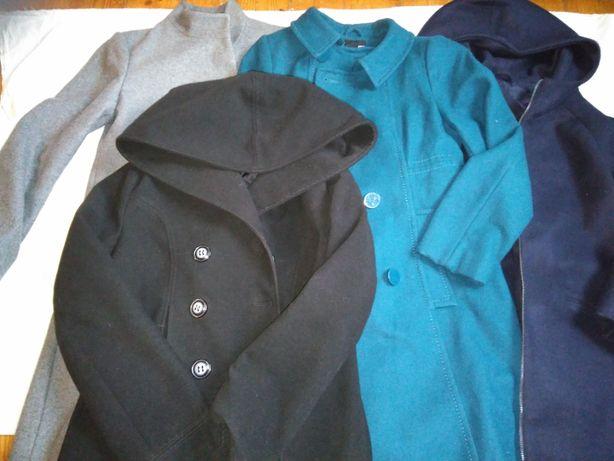 damskie, markowe przejściowe płaszcze i kurtka r.38