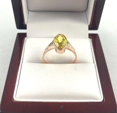 Cudowny ZŁOTY pierścionek PR. 583 (14K), rozmiar 19