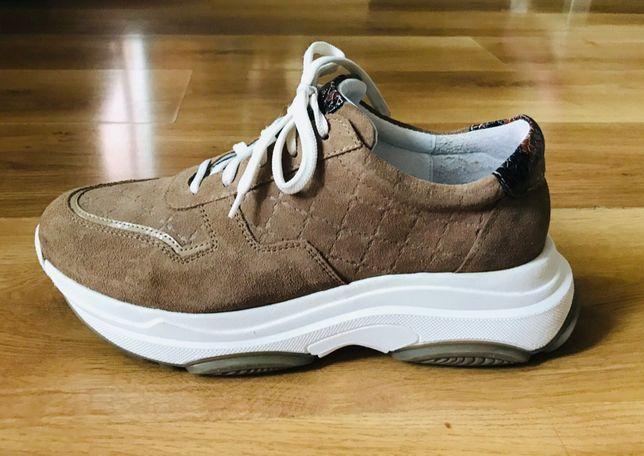 OCHNIK skóra sportowe sneakersy 38 skórzane buty  baleriny mokasyny