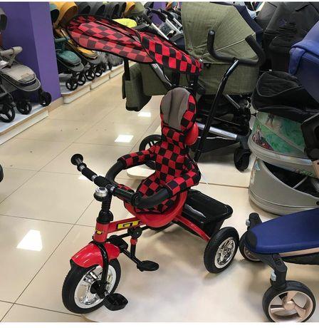 Детский велосипед с родительской ручкой GT