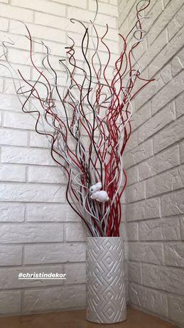 Декор з лози сухий букет ветки гілочки декор дома квартири лоза ива